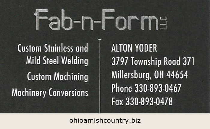 Welding – Ohio Amish Country Biz