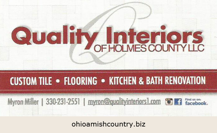 Quality Interiors Of Holmes County Llc Ohio Amish