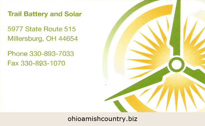 Trail Battery Amp Solar Ohio Amish Country Biz