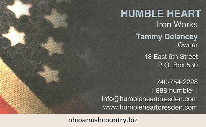 Humble Heart Iron Works Ohio Amish Country Biz