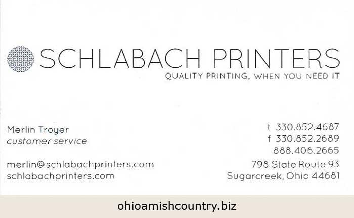 Schlabach printers